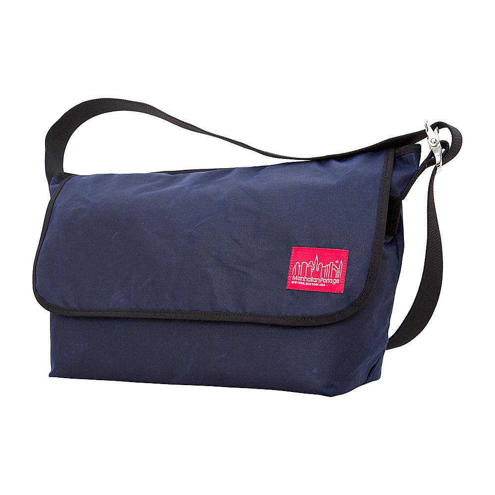 Manhattan Portage Waxed Vintage Messenger Bag (LG) Navy - Manhattan Portage Messenger Bags - Work Bags & Briefcases, Messenger Bags