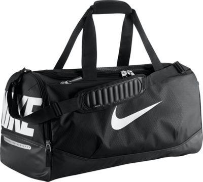 Nike Team Training Max Air Medium Duffel Black/Black/White - Nike All Purpose Duffels