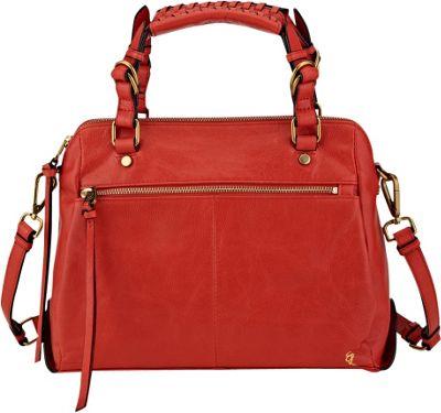 Elliott Lucca Olvera Zip Satchel Fire - Elliott Lucca Designer Handbags