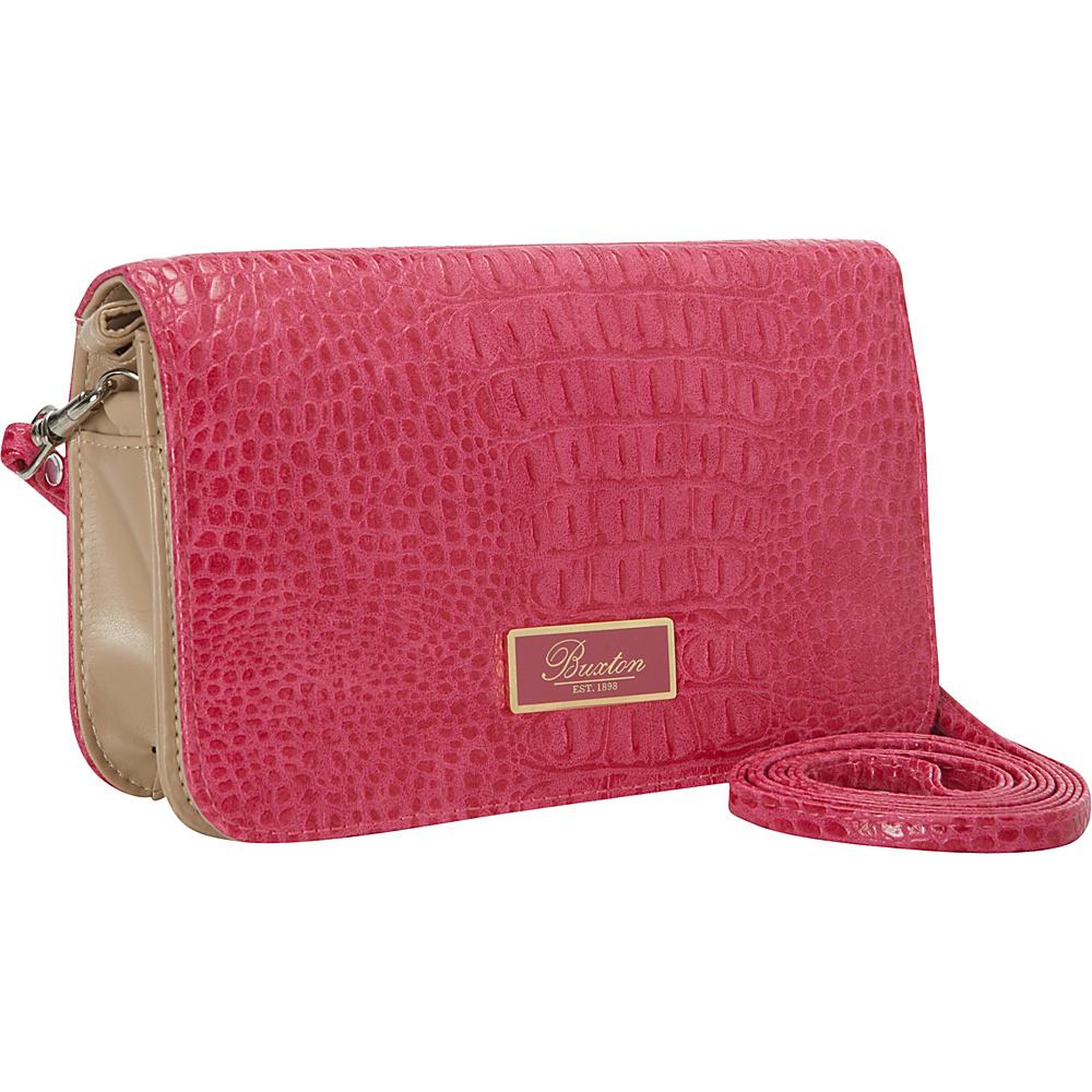Buxton Croco Mini-Bag Dragon Lily - Buxton Womens Wallets - Women's SLG, Women's Wallets