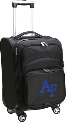 Denco Sports Luggage NCAA US Air Force Academy 20 inch Domestic Carry-On Spinner Black - Denco Sports Luggage Softside Carry-On