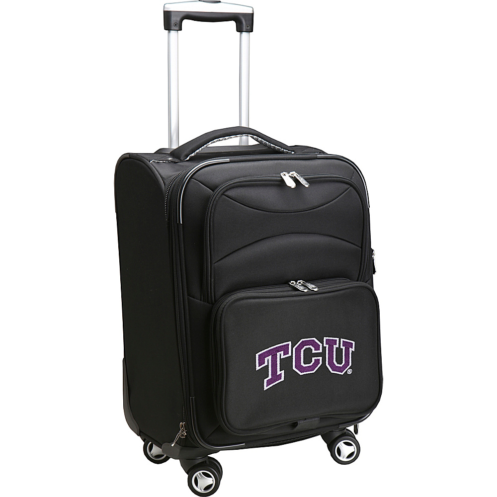 Denco Sports Luggage NCAA Texas Christian University 20 Domestic Carry-On Spinner Texas Christian University Horned Frogs - Denco Sports Luggage Softside Carry-On - Luggage, Softside Carry-On