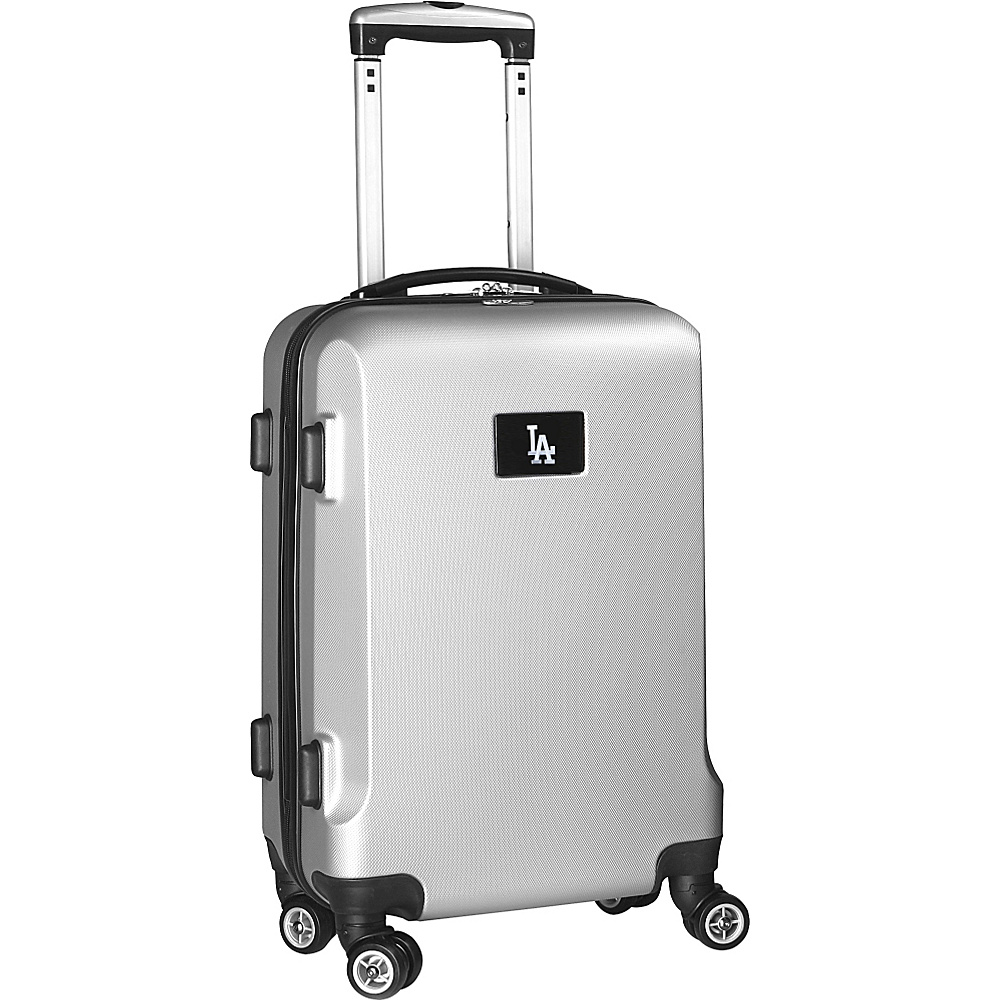 Denco Sports Luggage MLB 20 Domestic Carry-On Silver Los Angeles Dodgers - Denco Sports Luggage Hardside Carry-On - Luggage, Hardside Carry-On