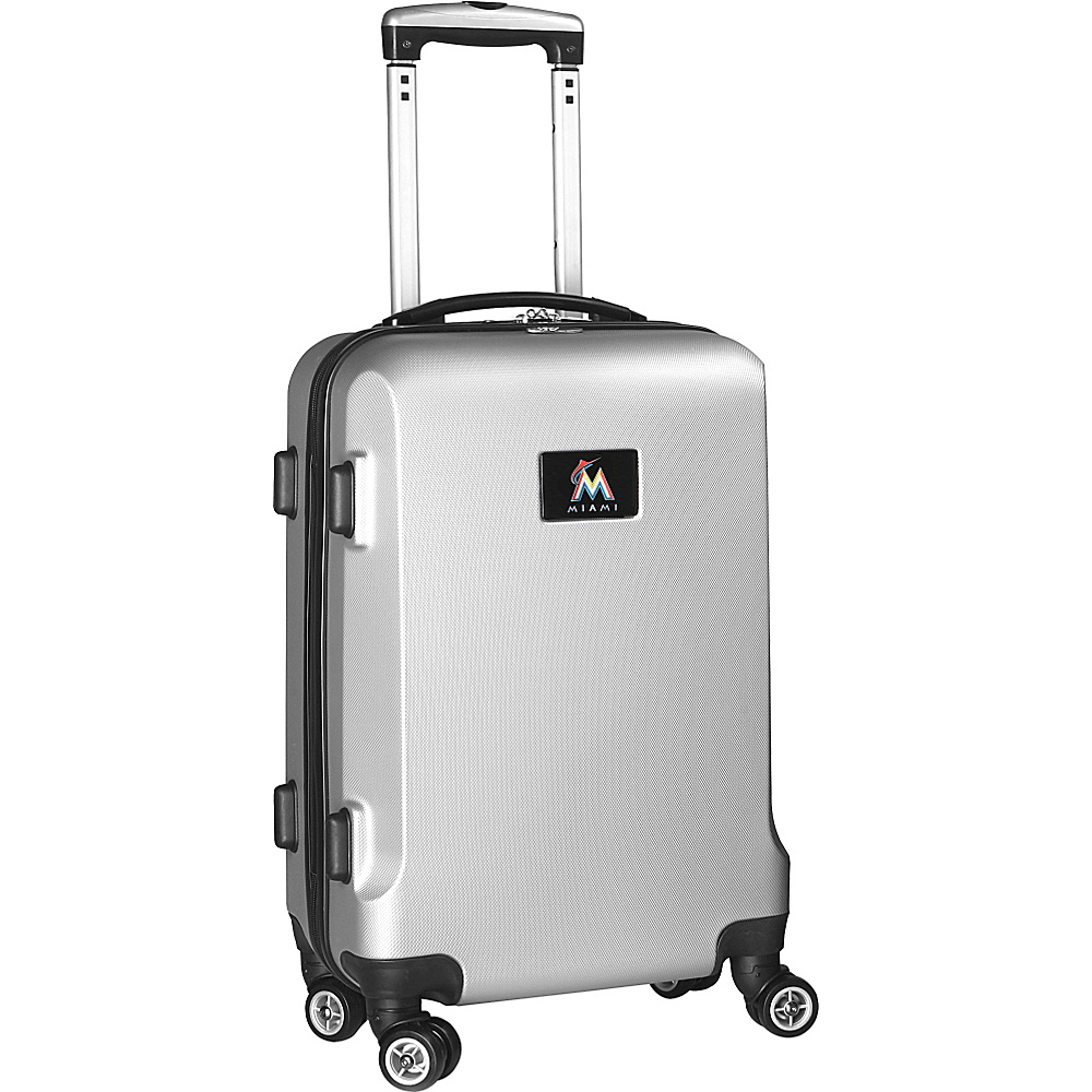 Denco Sports Luggage MLB 20 Domestic Carry-On Silver Miami Marlins - Denco Sports Luggage Hardside Carry-On - Luggage, Hardside Carry-On