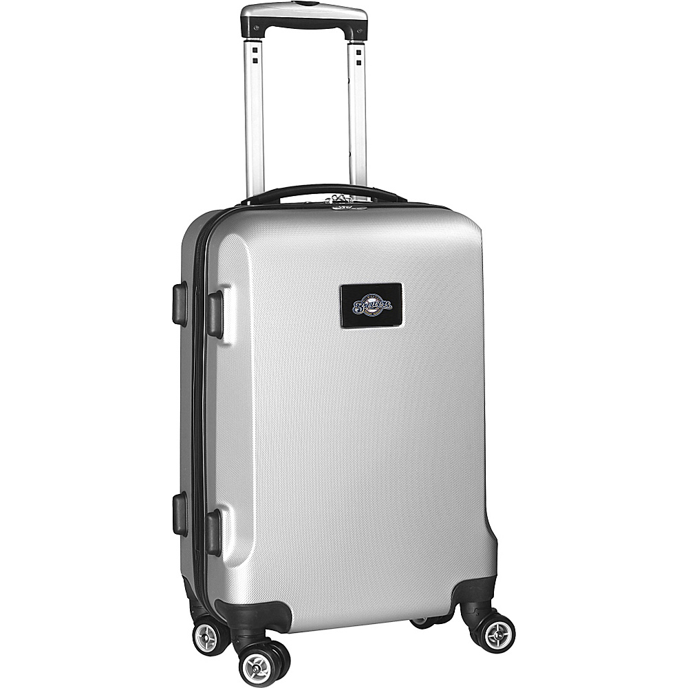 Denco Sports Luggage MLB 20 Domestic Carry-On Silver Milwaukee Brewers - Denco Sports Luggage Hardside Carry-On - Luggage, Hardside Carry-On