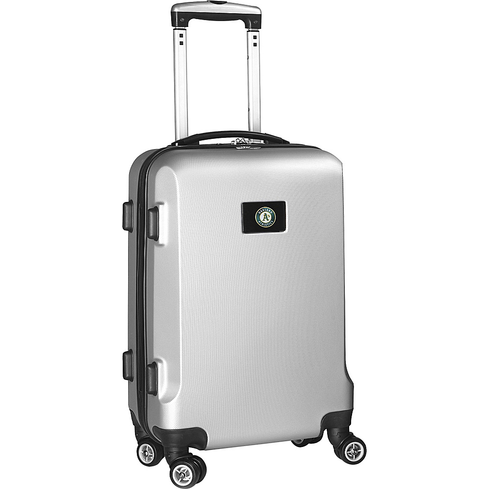 Denco Sports Luggage MLB 20 Domestic Carry-On Silver Oakland As - Denco Sports Luggage Hardside Carry-On - Luggage, Hardside Carry-On