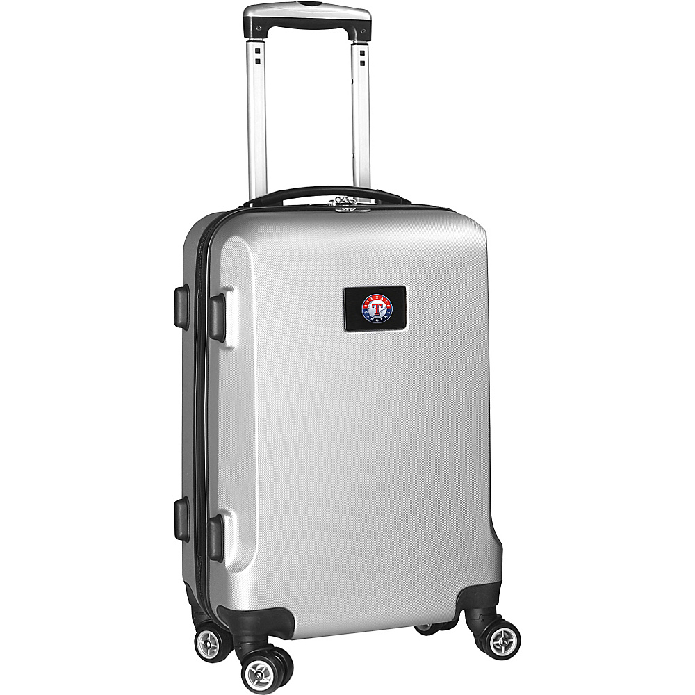 Denco Sports Luggage MLB 20 Domestic Carry-On Silver Texas Rangers - Denco Sports Luggage Hardside Carry-On - Luggage, Hardside Carry-On