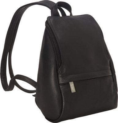 Black Leather Backpack Purse I8hK4nkE