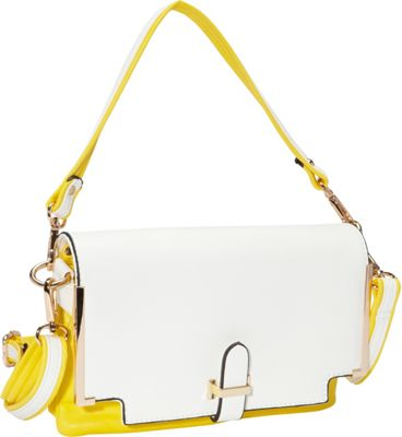 SW Global Gilda Closure Convertible Clutch YellowApricot - SW Global Manmade Handbags