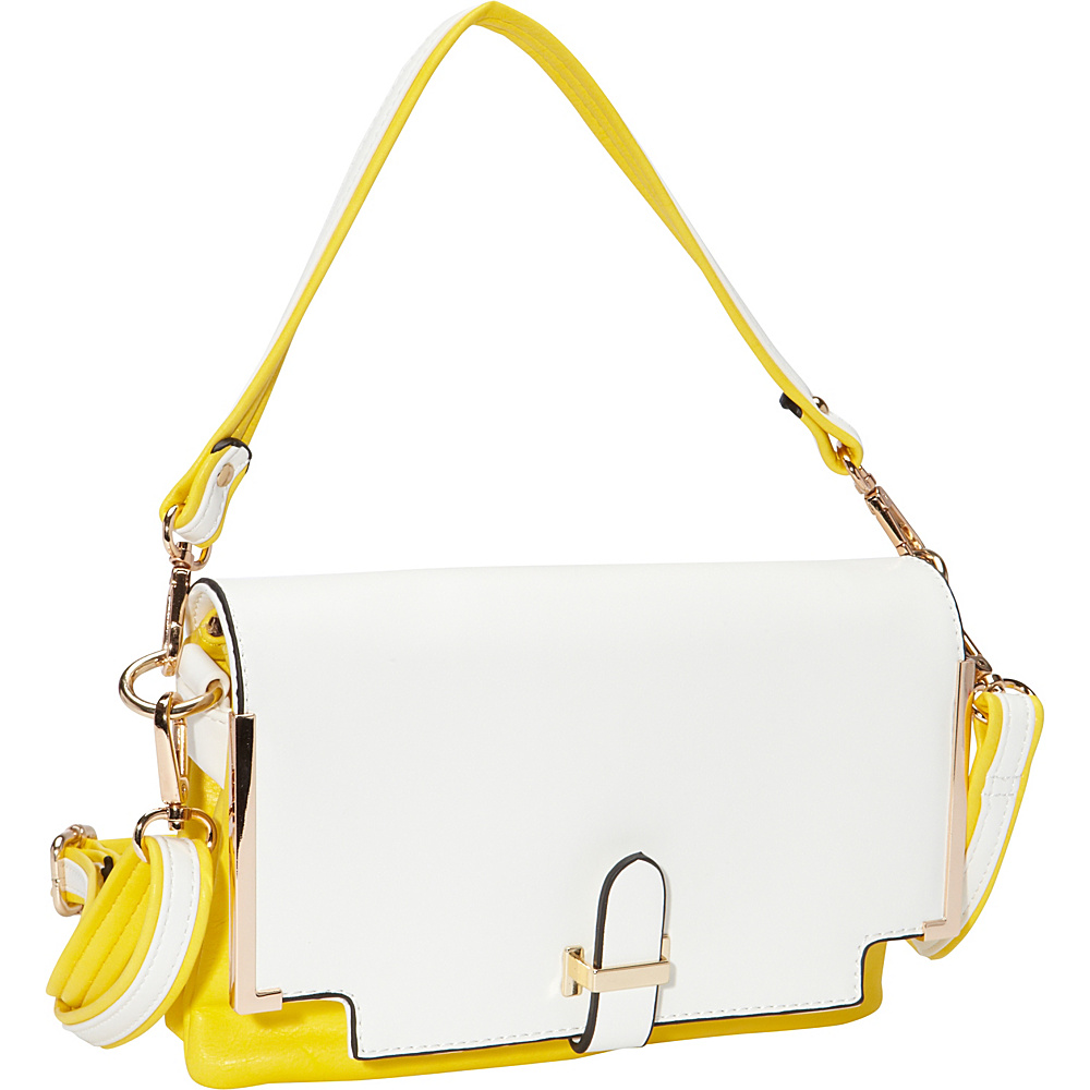 SW Global Gilda Closure Convertible Clutch YellowApricot - SW Global Manmade Handbags - Handbags, Manmade Handbags