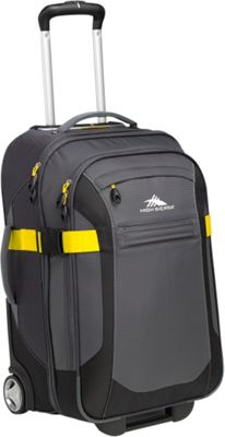High Sierra Sportour 22 inch Carry-On Upright Grey/Black/Sunflower - High Sierra Softside Carry-On