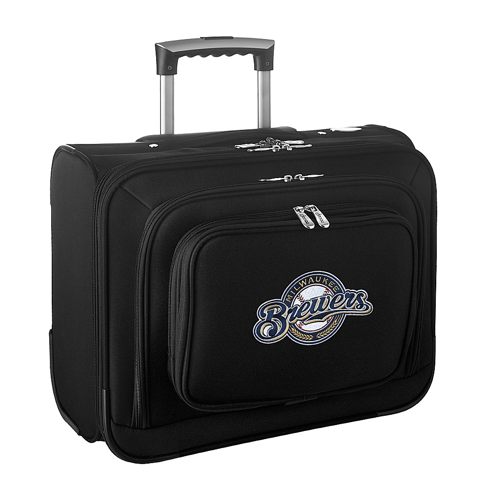 Denco Sports Luggage MLB 14 Laptop Overnighter Milwaukee Brewers - Denco Sports Luggage Wheeled Business Cases - Work Bags & Briefcases, Wheeled Business Cases