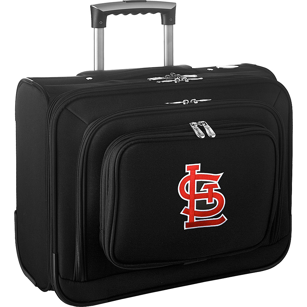 Denco Sports Luggage MLB 14 Laptop Overnighter St Louis Cardinals - Denco Sports Luggage Wheeled Business Cases - Work Bags & Briefcases, Wheeled Business Cases