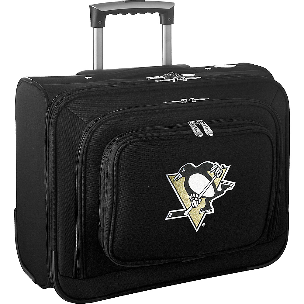 Denco Sports Luggage NHL 14 Laptop Overnighter Pittsburgh Penguins - Denco Sports Luggage Wheeled Business Cases - Work Bags & Briefcases, Wheeled Business Cases