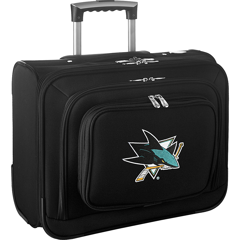 Denco Sports Luggage NHL 14 Laptop Overnighter San Jose Sharks - Denco Sports Luggage Wheeled Business Cases - Work Bags & Briefcases, Wheeled Business Cases