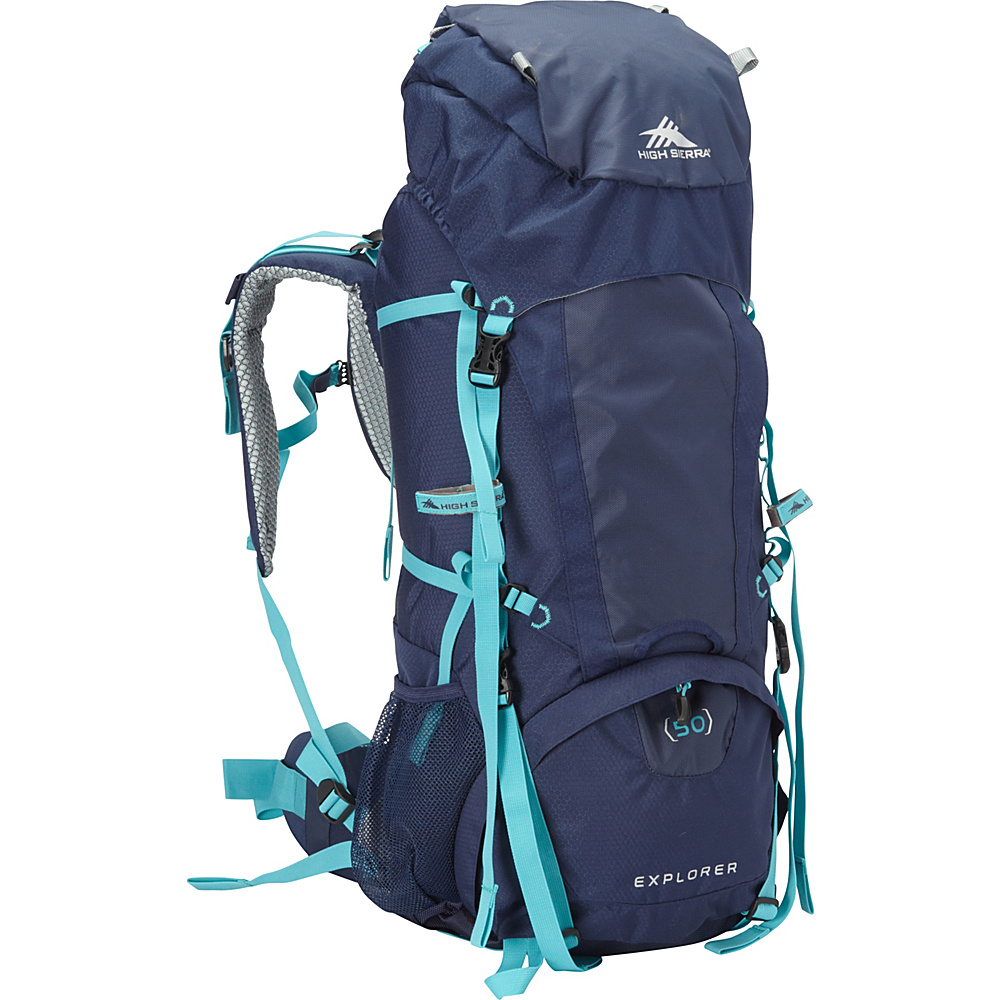 High Sierra Women's Explorer 50 True Navy/True Navy/Tropic Teal - High Sierra Day Hiking Backpacks