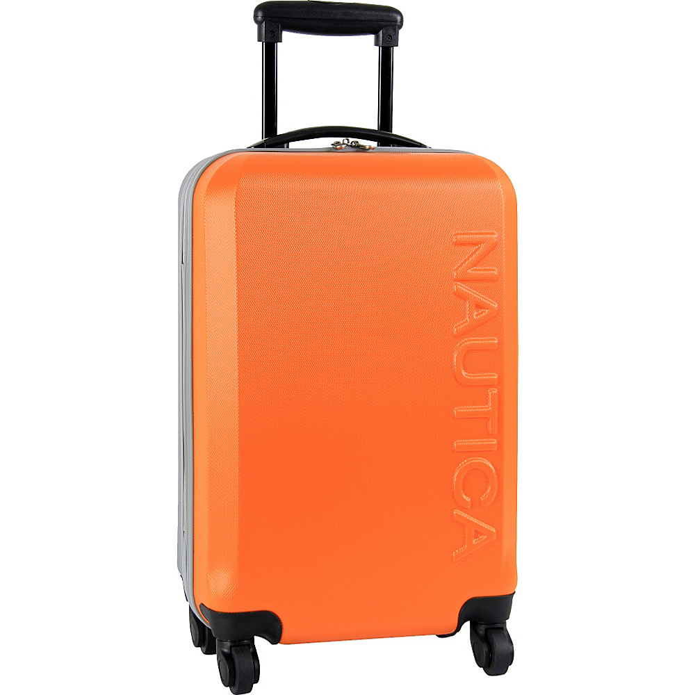 "Nautica Ahoy 21"" Hardside Spinner Orange/Silver/Silver - Nautica Hardside Carry-On"