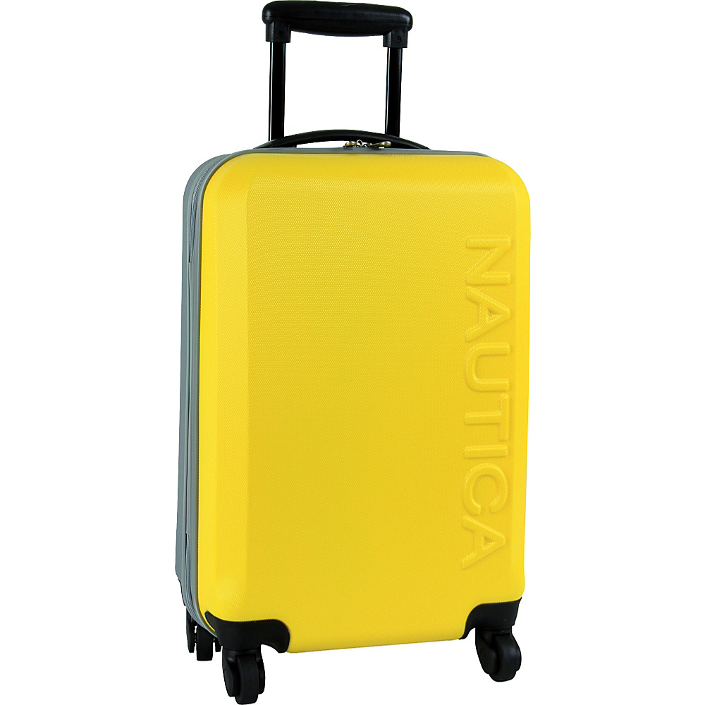 "Nautica Ahoy 21"" Hardside Spinner Yellow/Silver/Silver - Nautica Hardside Carry-On"