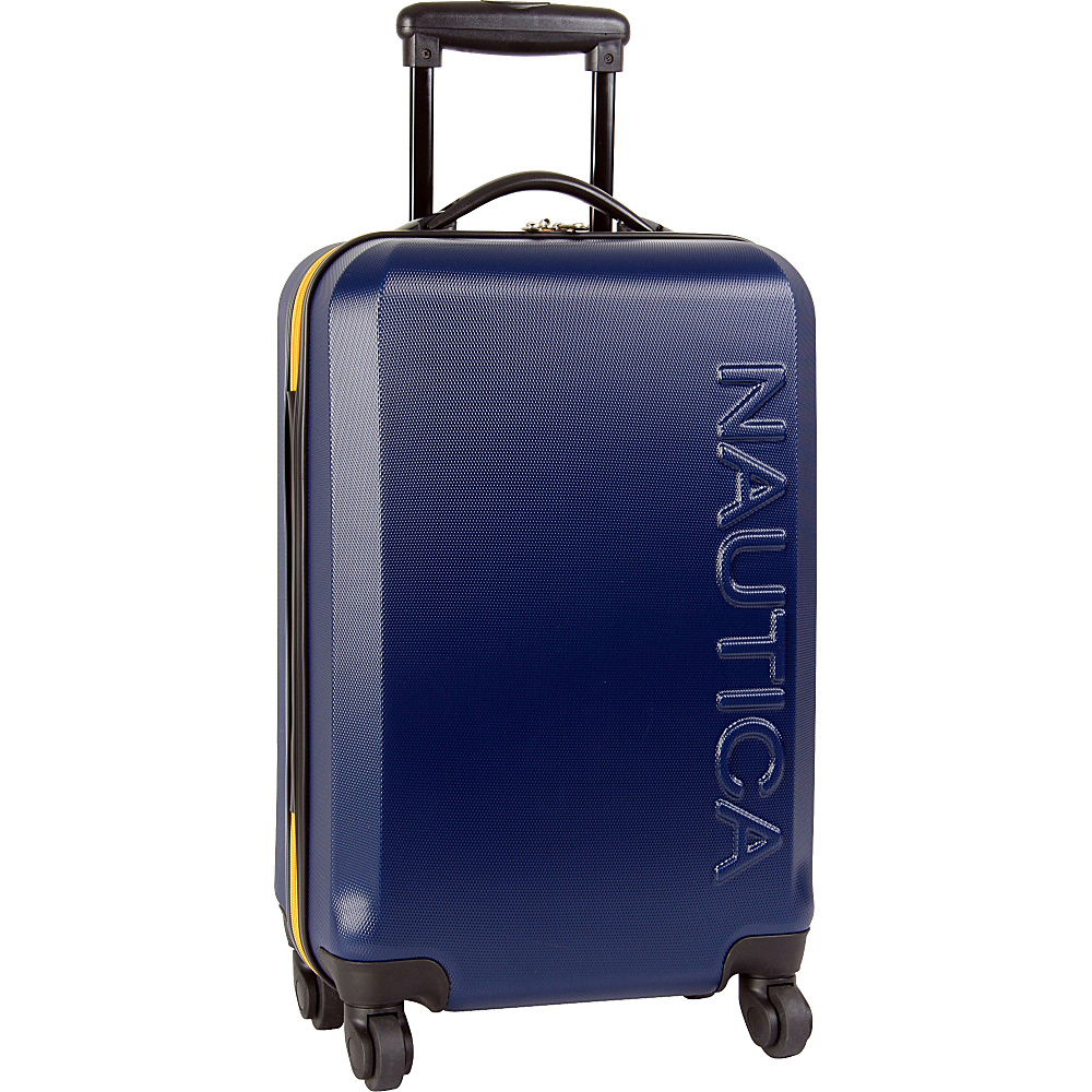 "Nautica Ahoy 21"" Hardside Spinner Navy/Navy/Yellow - Nautica Hardside Carry-On"