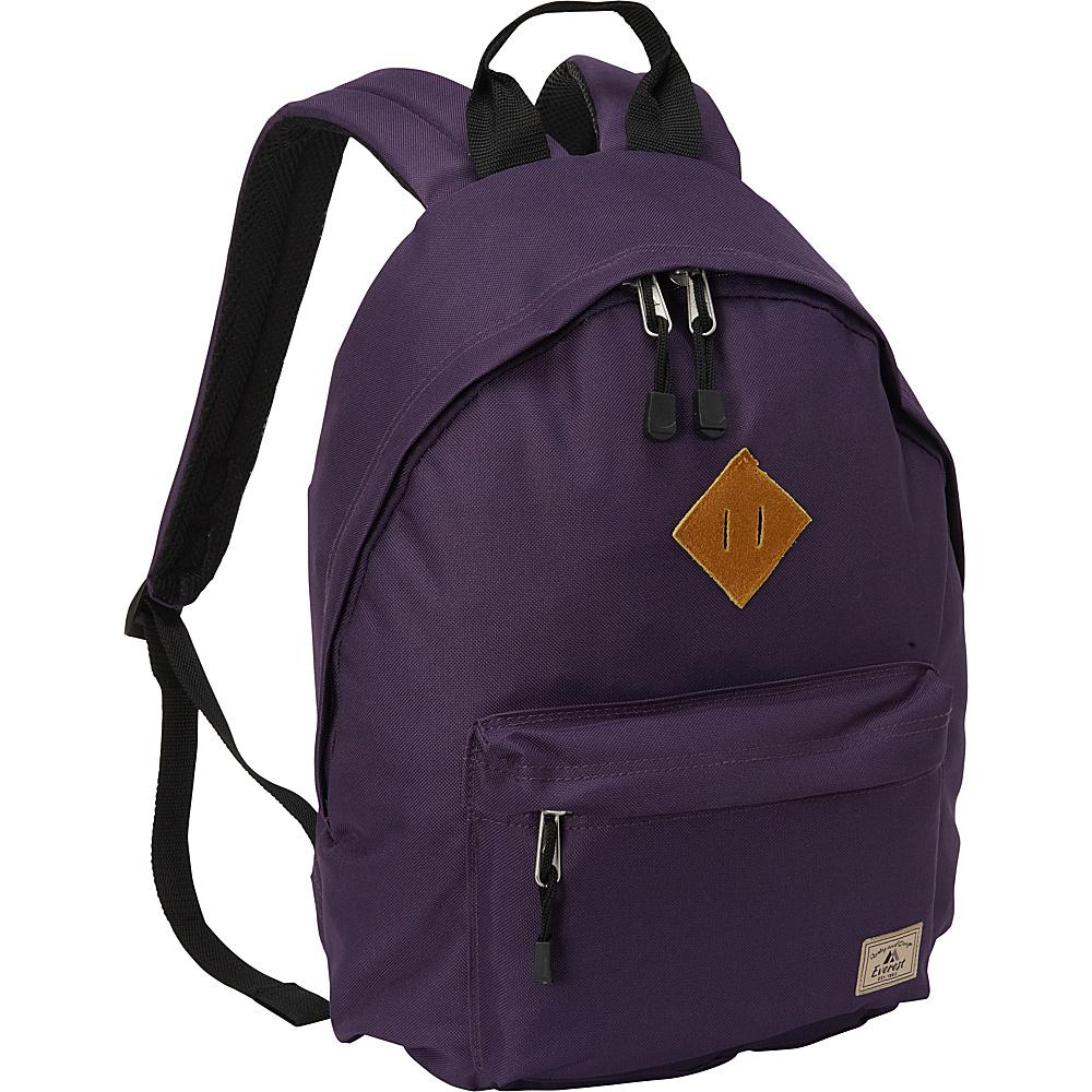 Everest Vintage Backpack Eggplant - Everest Everyday Backpacks - Backpacks, Everyday Backpacks