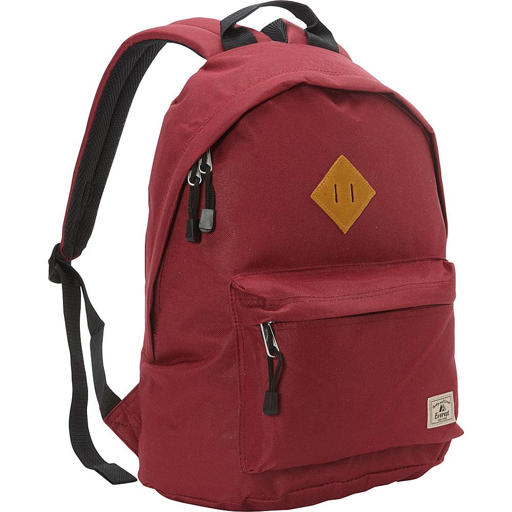 Everest Vintage Backpack Burgundy - Everest Everyday Backpacks - Backpacks, Everyday Backpacks