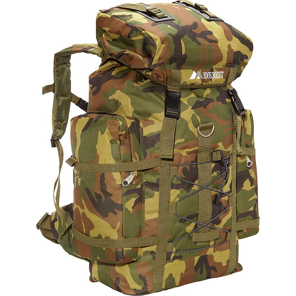 Everest Woodland Camo Hiking Pack Woodland Camo - Everest Day Hiking Backpacks - Outdoor, Day Hiking Backpacks