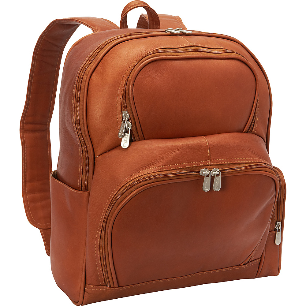 Piel Half-Moon Laptop Backpack Saddle - Piel Business & Laptop Backpacks - Backpacks, Business & Laptop Backpacks