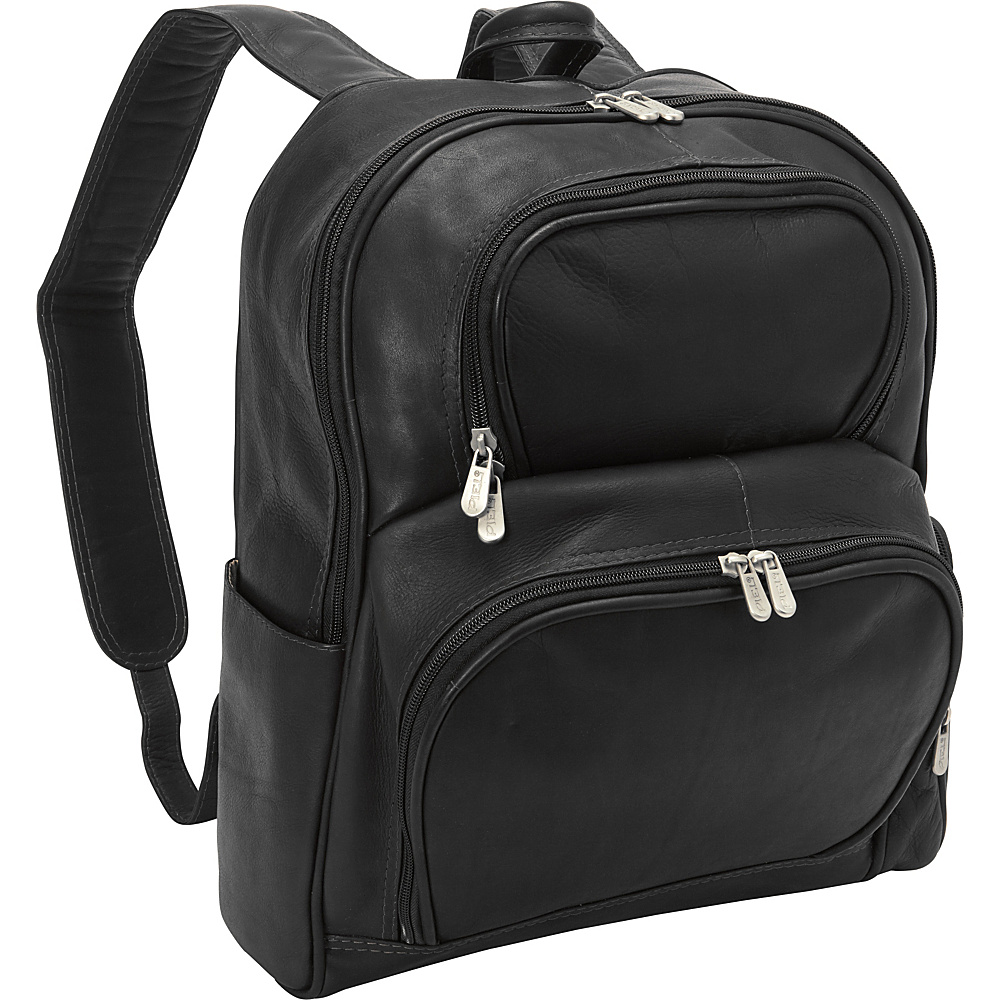 Piel Half-Moon Laptop Backpack Black - Piel Business & Laptop Backpacks - Backpacks, Business & Laptop Backpacks