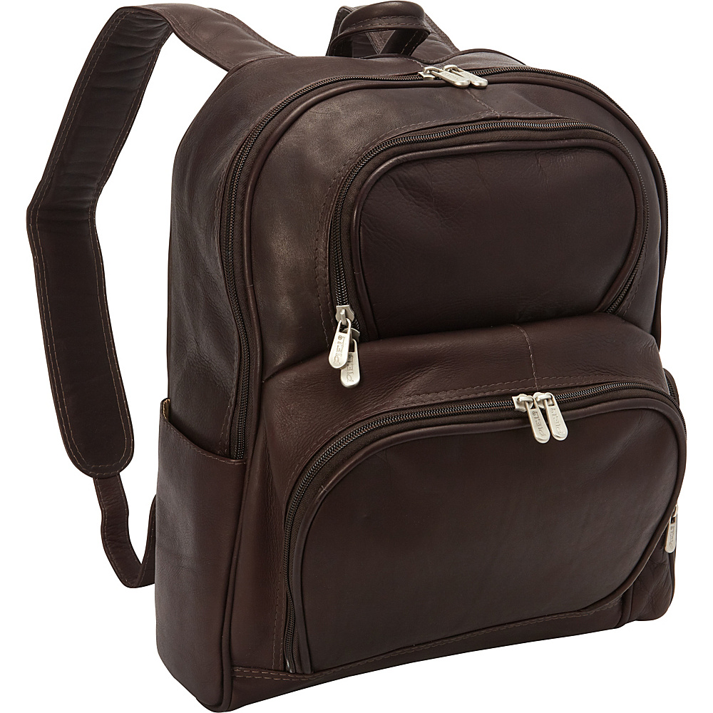 Piel Half-Moon Laptop Backpack Chocolate - Piel Business & Laptop Backpacks - Backpacks, Business & Laptop Backpacks