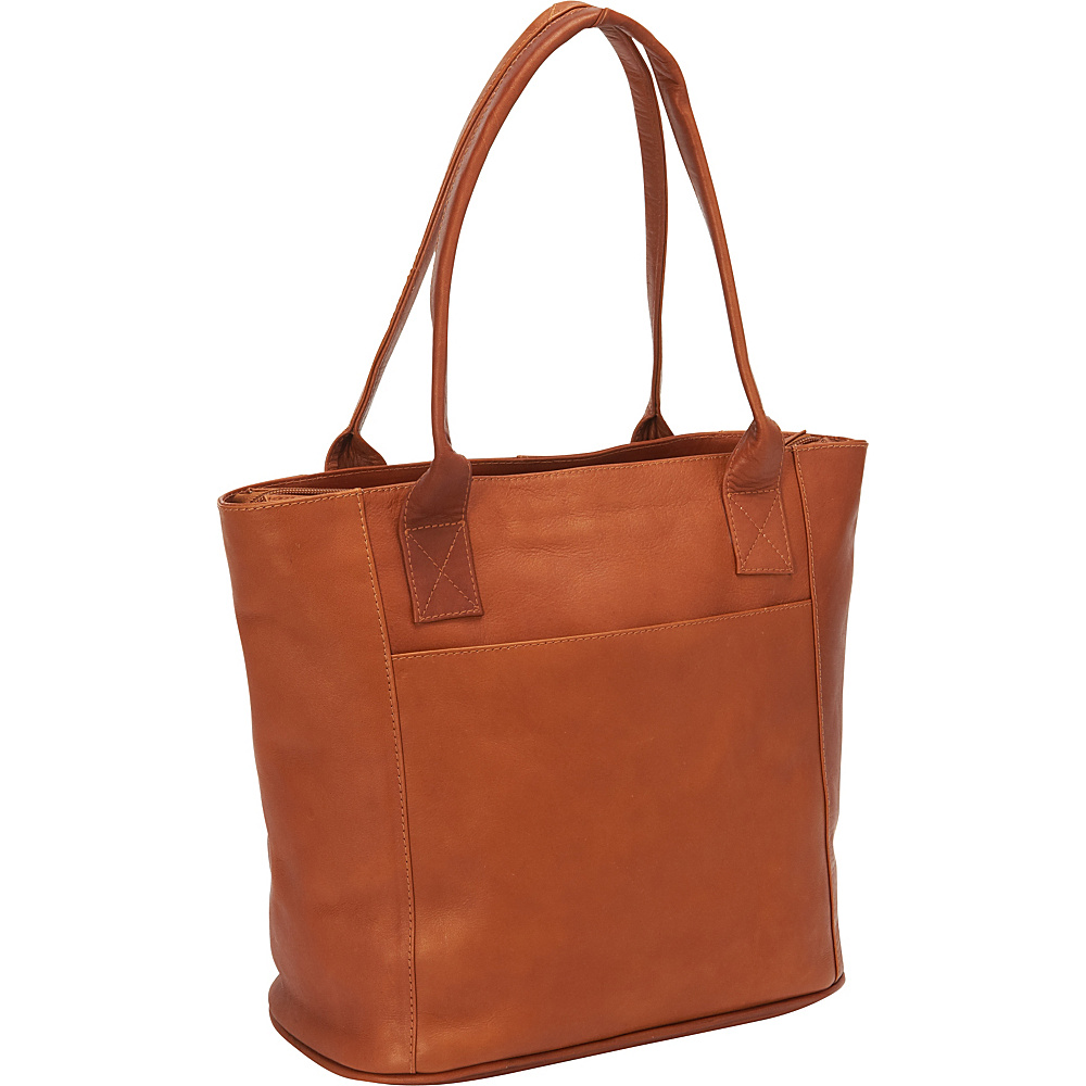Piel Small Tote Bag Saddle - Piel Leather Handbags - Handbags, Leather Handbags