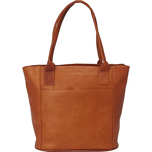Piel Small Tote Bag Saddle - Piel Leather Handbags