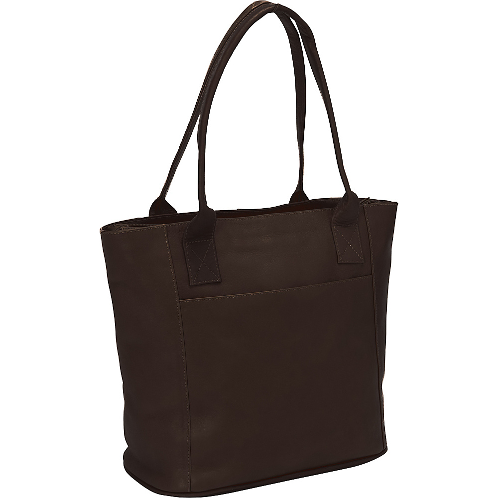 Piel Small Tote Bag Chocolate - Piel Leather Handbags - Handbags, Leather Handbags
