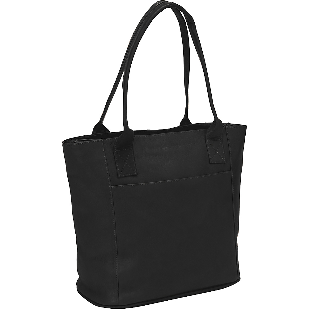 Piel Small Tote Bag Black - Piel Leather Handbags