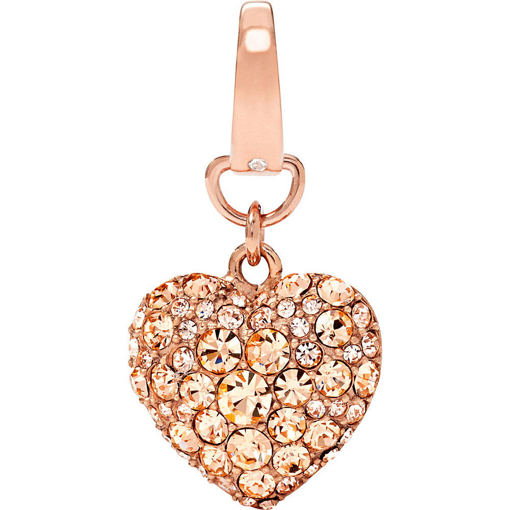 Fossil Puffy Heart Charm Rose Gold - Fossil Other Fashion Accessories - Fashion Accessories, Other Fashion Accessories