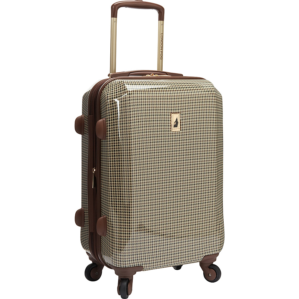 "London Fog Chelsea 20"" Hardside Spinner Carry-on Olive Plaid - London Fog Hardside Luggage"