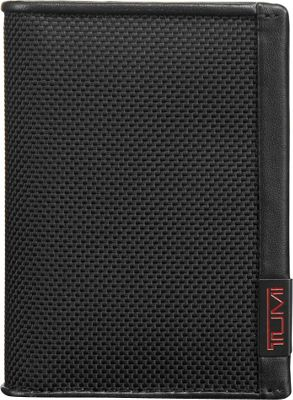 Tumi Alpha Gusseted Card Case with ID Black - Tumi Men's Wallets