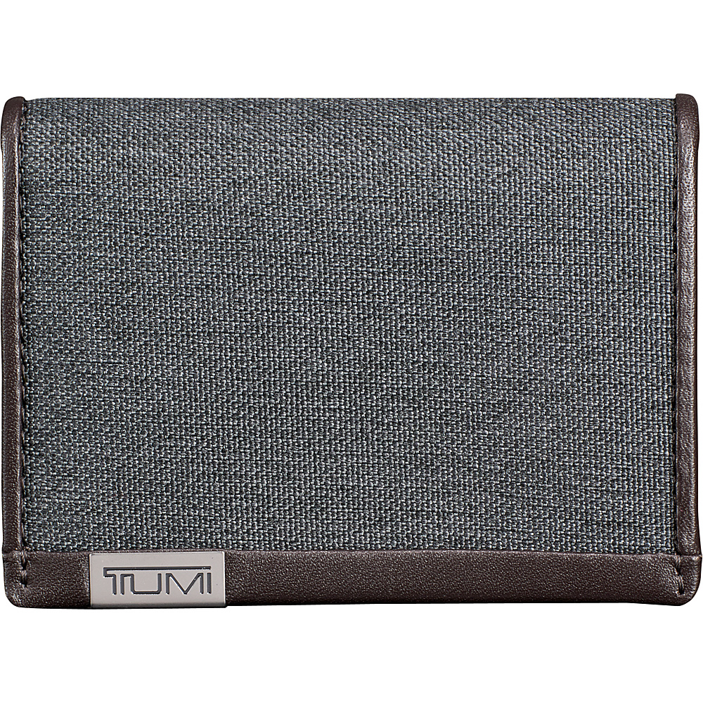 Tumi Alpha Gusseted Card Case with ID Antracite - Tumi Mens Wallets - Work Bags & Briefcases, Men's Wallets