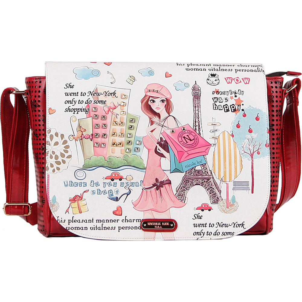 Nicole Lee Shopping Girl Messenger Bag Shopping Girl - Nicole Lee Messenger Bags