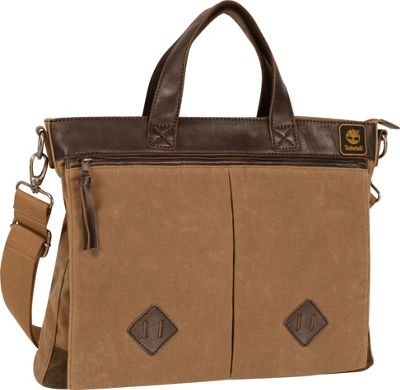 Timberland Mt. Madison Briefcase Tan/Brown - Timberland Non-Wheeled Business Cases