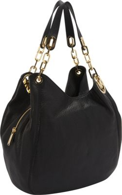 MICHAEL Michael Kors Fulton Large Shoulder Tote Bag Black - MICHAEL