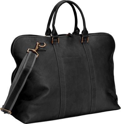 Clava Leather Weekender Satchel Vachetta Black - Clava Luggage Totes and Satchels