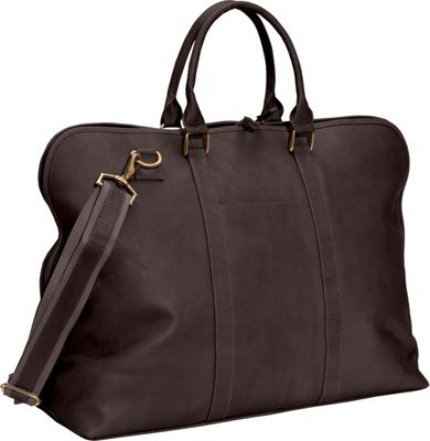Clava Leather Weekender Satchel Vachetta Cafe - Clava Luggage Totes and Satchels