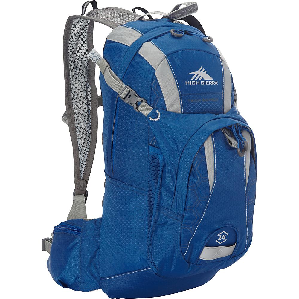 High Sierra Wahoo 14 Backpack Royal Cobalt Silver High Sierra Hydration Packs and Bottles