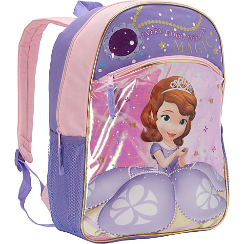 Disney Sofia The First Light Up Backpack Purple - Disney School & Day Hiking Backpacks
