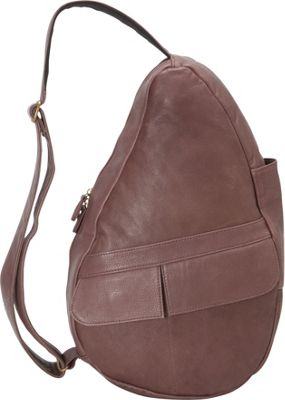 AmeriBag Healthy Back Bag evo Leather Small Plum - AmeriBag Leather Handbags