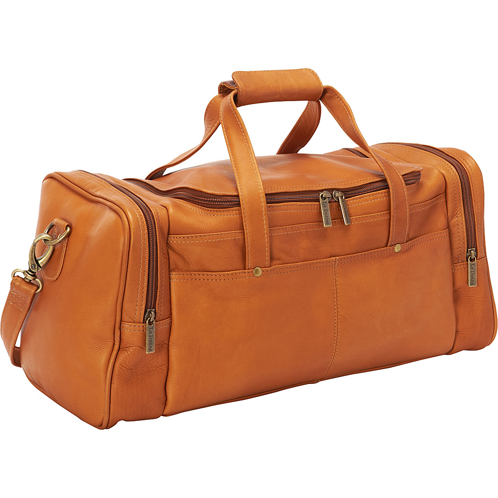 Le Donne Leather Hayden Duffle Tan - Le Donne Leather Travel Duffels - Duffels, Travel Duffels