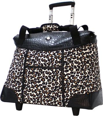 Olympia USA Deluxe Fashion Rolling Laptop Tote Cheetah - Olympia USA Wheeled Business Cases