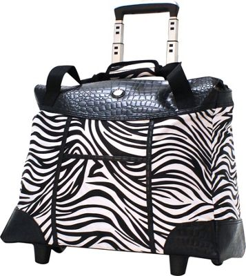 Olympia USA Deluxe Fashion Rolling Laptop Tote Zebra - Olympia USA Wheeled Business Cases