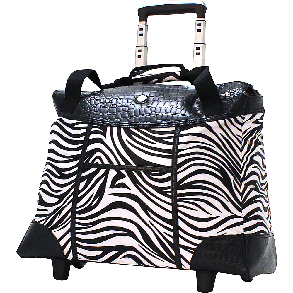 Olympia Deluxe Fashion Rolling Laptop Tote Zebra - Olympia Wheeled Business Cases