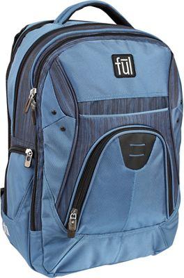 ful Gung-Ho Backpack Laptop Backpack Lake Blue Woven Navy - ful Laptop Backpacks
